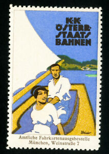 Germany-Stamps-Old-1920-boating-label