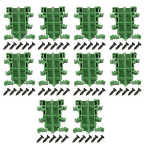 10sets-35mm-PCB-DIN-C45-Rail-Adapter-Circuit-Board-Bracket-Holder-Carrier-KIT