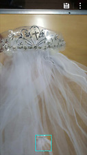 Girls First Communion/ Christening Virgin Mary Tiara with Veil
