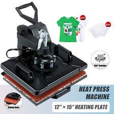 360 Swing Away Press 1250w T Shirt Heat Press Machine For Pillowcases More 12x15