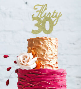 Image Is Loading Flirty 30 Cake Topper 30th Birthday