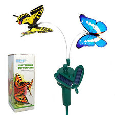 HQRP Pair of Solar Powered Flying Butterflies Yellow Swallowtail and Blue Morpho