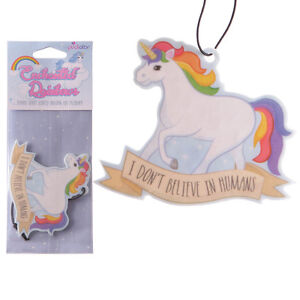Car-Air-Freshener-Unicorn-Berry-Scent-Novelty-Freshner-i-don-039-t-believe-in-humans