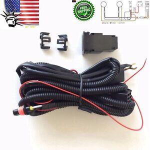 fog light wiring harness relay kit 880 899 12v 30a on off switch 2image is loading fog light wiring harness relay kit 880 899