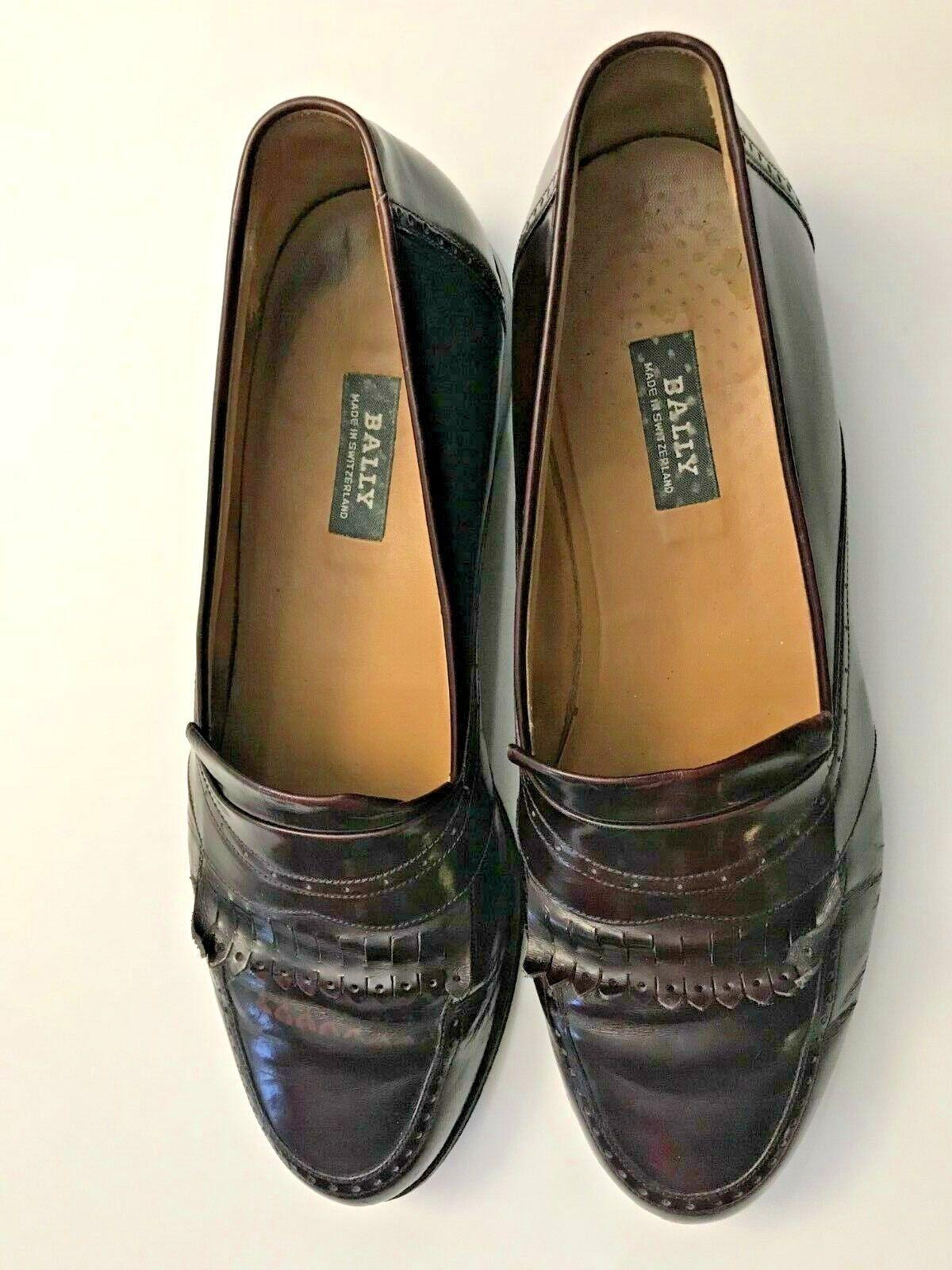 liquidazione BALLY BALLY BALLY SWITZERLAND BURGUNDY LEATHER KILTIE LOAFERS EXCELLENT COND Dimensione 10.5 B  presentando tutte le ultime tendenze della moda