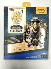 World of Warcraft Alliance 3D Wood Puzzle /&/Model Figure Kit 33 Pcs with Exclusive Poster 12+/ Holiday Educational Gift for Kids /& Adults Build /& Paint Your Own 3-D Game Toy No Glue Required