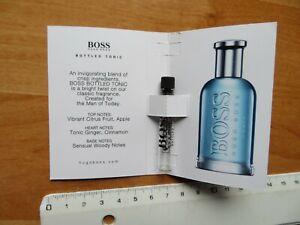 Hugo Boss Bottled Tonic leerer mini Parfüme Flakon 1,5ml Musterprobe made in UK
