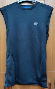 Fitness Vest Top Size S Lovely Mens Admiral Black Sleeveless Training Sports