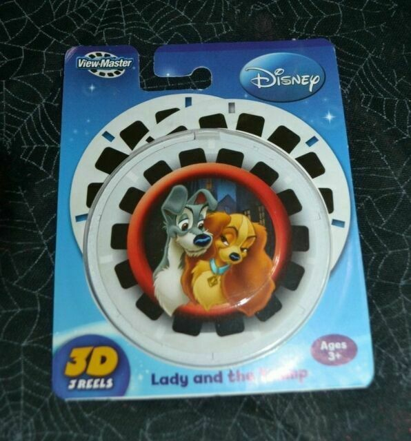 DISNEY LADY AND THE TRAMP 3D VIEW-MASTER REELS 3 PACK