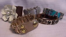 LEATHER BRACELET BUCKLE WRIST BAND LOT OF 5