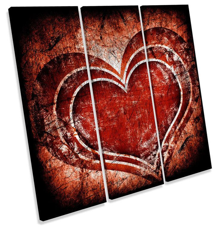 Amor Corazón Romance rojo Grunge TREBLE LONA pa rojo Romance  arte nuevosoportedesilbato 8173aa