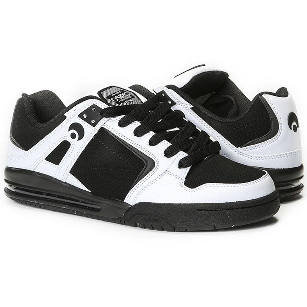 hommes OSIRIS PXL SKATEBOARDING Chaussures NIB blanc noir blanc