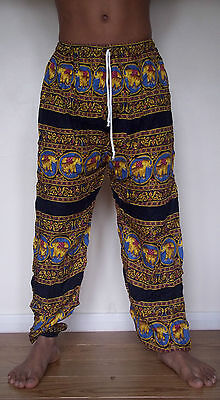 Unisex baggy trousers festival loose hippy hippie boho bohemian pants elephant