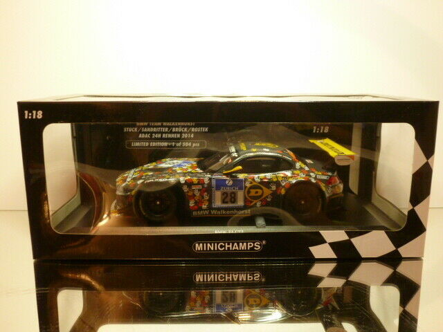 MINICHAMPS BMW Z4 GT3 - 24h ADAC 2014 - grau 1 18 - EXCELLENT IN  BOX - ltd.ed