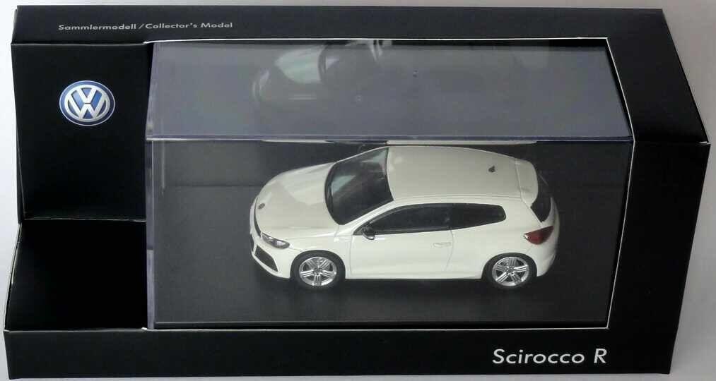 Très rare VW Scirocco R 2.0 Turbo 2010 Candy Blanc 1 43 Norev (concessionnaire modèle)