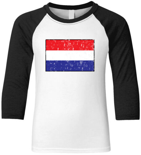 Details about  /Netherlands Country Pride Game Day Soccer Flying Dutchmen Fan Youth Raglan Shirt