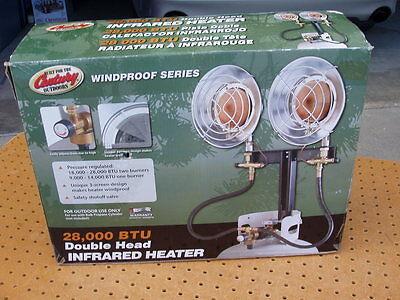 Century Double Head Infrared Heater 28 000 Btu Propane