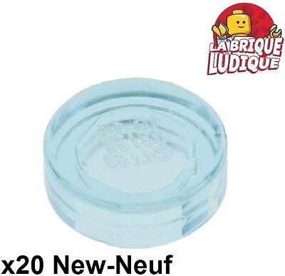 Hellblau Light Blue Neu 10X Lego 98138 Runde Fliesen Tile Round 1X1 Transp