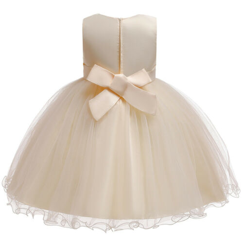 Flower Girls Kid Dress Christmas Bridesmaid Wedding Pageant Princess Tulle Gown
