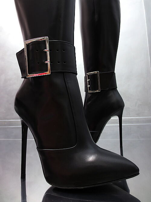 MADE IN ITALY NEU DAMEN STIEFEL SEXY HIGH HEELS BOOTS STIEFEL DAMEN LZ8 LUXUS LEDER SCHWARZ 35 bad607