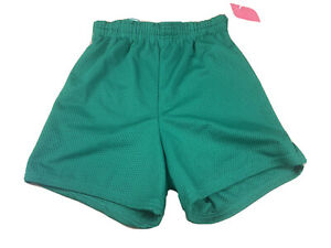 New-Vintage-90s-80s-Dark-Green-Small-Polyester-Athletic-Shorts