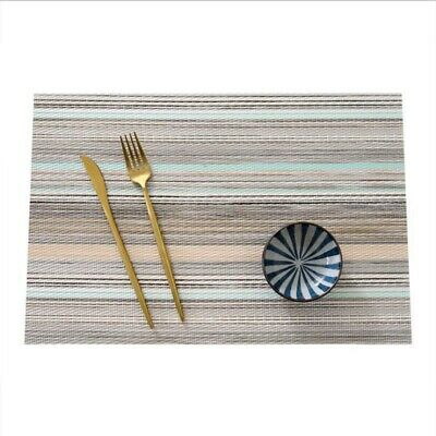 Place Mats Set of 4 Heat Insulation Stain Resistant Placemats Table Mat AU