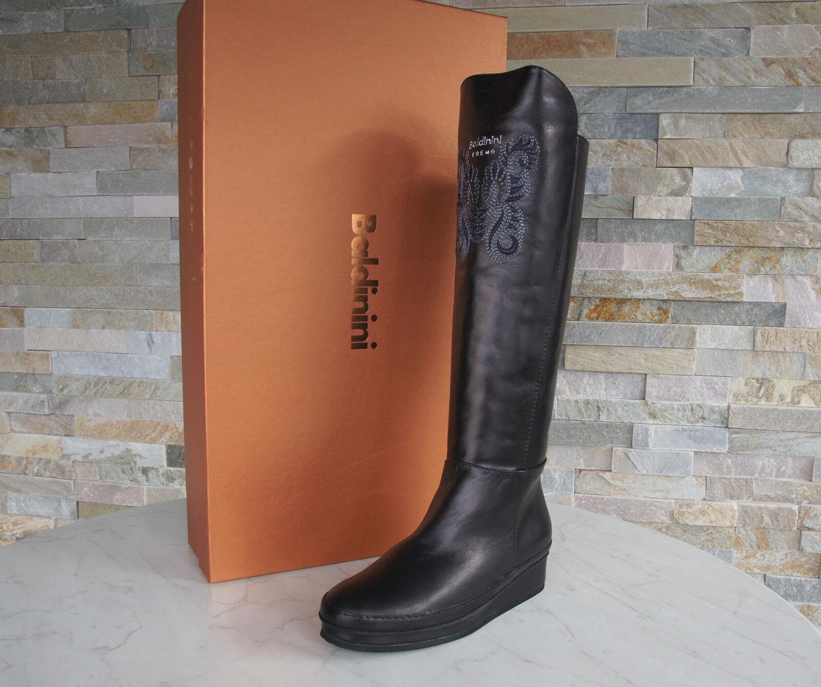Baldinini Trend Gr 36 Stiefel Fell 148334 Stiefel Schuhe schwarz NEU ehem