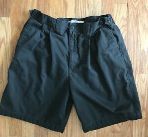 Mens Shorts Cherokee Pleated Shorts Size 33 Dark Green Shorts EXCELLENT EUC!