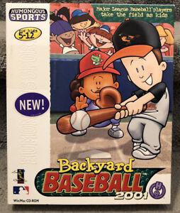 Backyard Baseball 2001 Win/Mac Big Box CD-ROM MLB ...