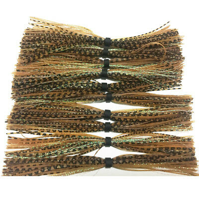 10pc NEW standard silicone Skirt For SpinnerBait jig Skirt Fishing skirts SF081