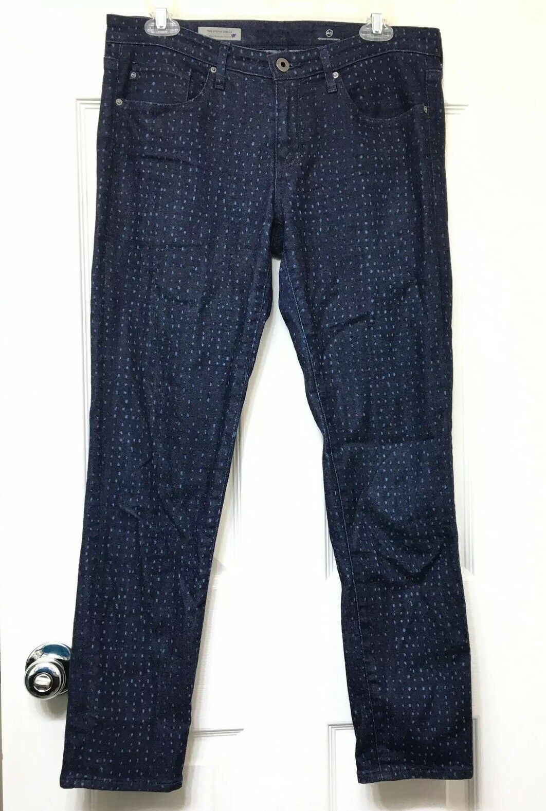 AG Adriano goldschmied Jeans 29R The Stevie Ankle Slim Straight Ankle Dark Wash