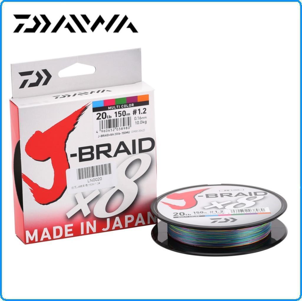 TRECCIATO DAIWA J BRAID X8 0.24mm 300mt 18KG PE3 40LB color MULTICOLOR