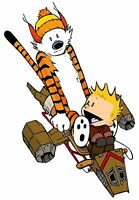 Calvin & Hobbes Play Firefly In Their Serenity Graphic T-shirt