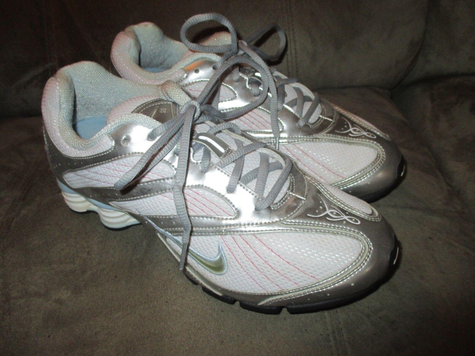Nike sz 9,5 bianca & argentoo w   rosa le scarpe da corsa di tennis | Alta Qualità  | Uomo/Donna Scarpa