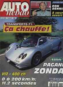 AUTO-HEBDO-n-1195-du-7-Juillet-1999-PAGANI-ZONDA