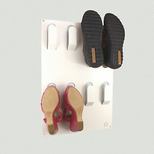 Designer-Wall-Mounted-4-Pair-Shoe-Storage-Rack-White-by-The-Metal-House