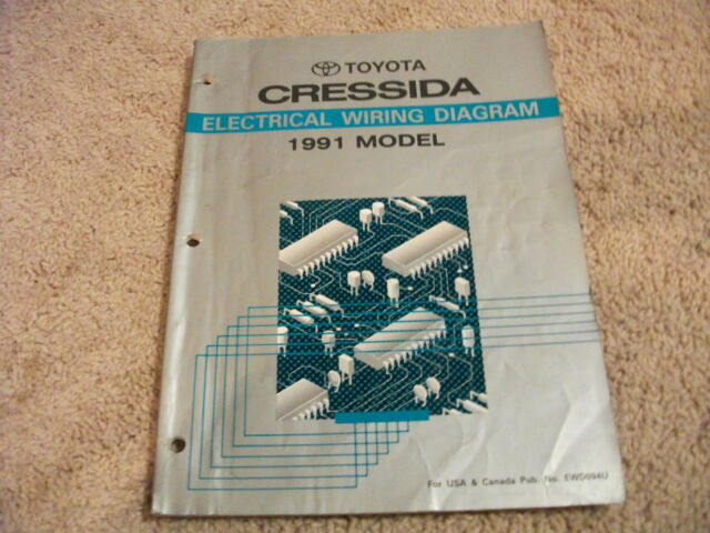 1991 Toyota Cressida Electrical Wiring Diagrams Manual Oem