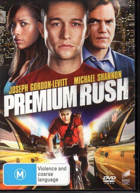 PREMIUM RUSH - DVD R4 Joseph Gordon-Levitt  LIKE NEW - FREE POST