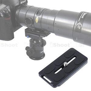 Schnellwechselplatte-fuer-Kamera-Objektiv-Stativ-Schelle-Kugelkopf-RRS-Wimberley