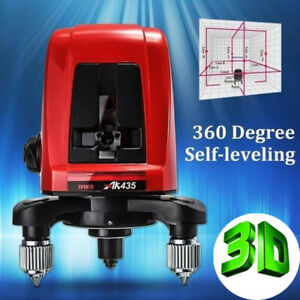 AK435-360-Degree-Self-leveling-Cross-Laser-Level-2-Line-1-Point-Package-Bag-CA