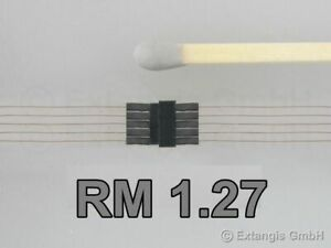 Mini-Steckerset-5polig-RM-1-27-Kupferlackdraht-0-1-mm-connector-pole-pin-pitch