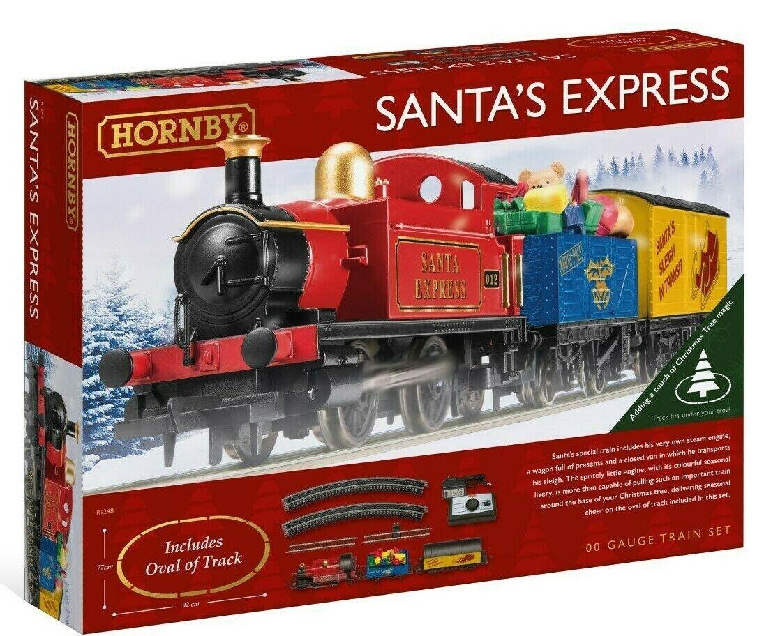 New Release Hornby 00 Gauge  Santa's Express  2019 Train Set. .