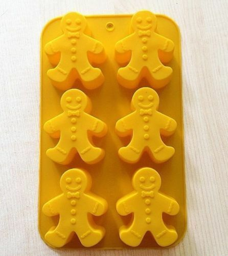 Cake Mold Soap Mold The Gingerbread Man Silicone Mould For Candy Chocolate Fimo