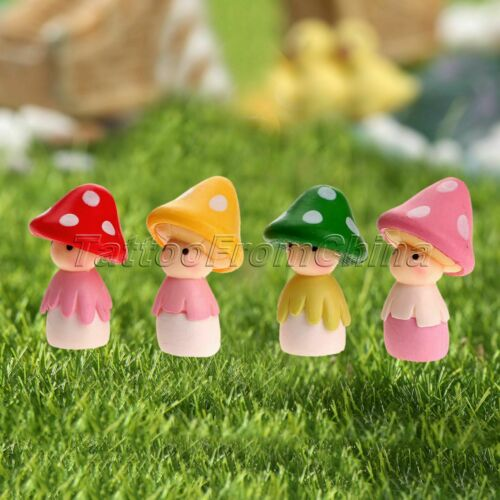 Miniature Mushroom Doll Craft Fairy Landscape Bonsai Terrariums Garden Ornament