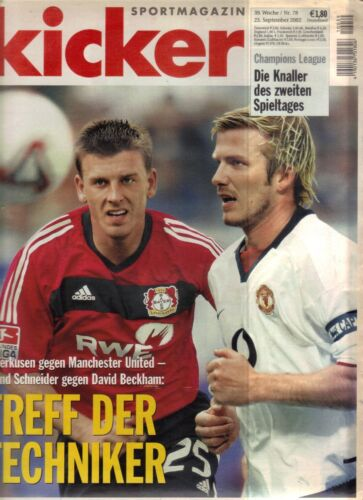 200203 Bayer Leverkusen v Manchester United David Beckham Cover Kicker