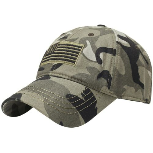 Men Summer Baseball Cap Tactical Army Cotton Dad Hat USA American Flag Patch Cap
