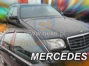 Windabweiser MERCEDES S-Klasse W140 4-türer 1991-1998 2-tlg dunkel Regenabweiser