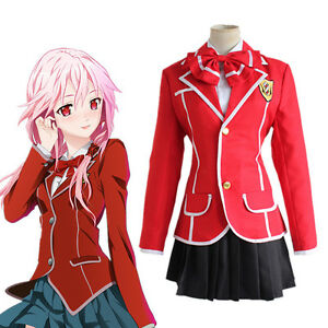 Guilty Crown Yuzuriha Inori Anime Cosplay Costume Girl High School