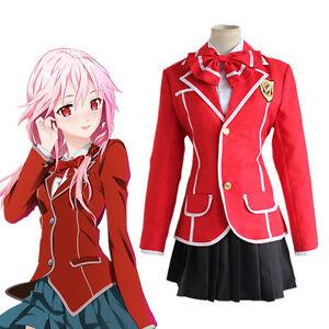 Guilty Crown Yuzuriha Inori Anime Cosplay Costume Girl High School Uniform  eBay