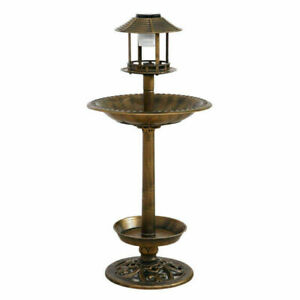 Ornamental-Solar-Light-Garden-Ornaments-Bird-Bath-Feeder-Feeding-Food-Station